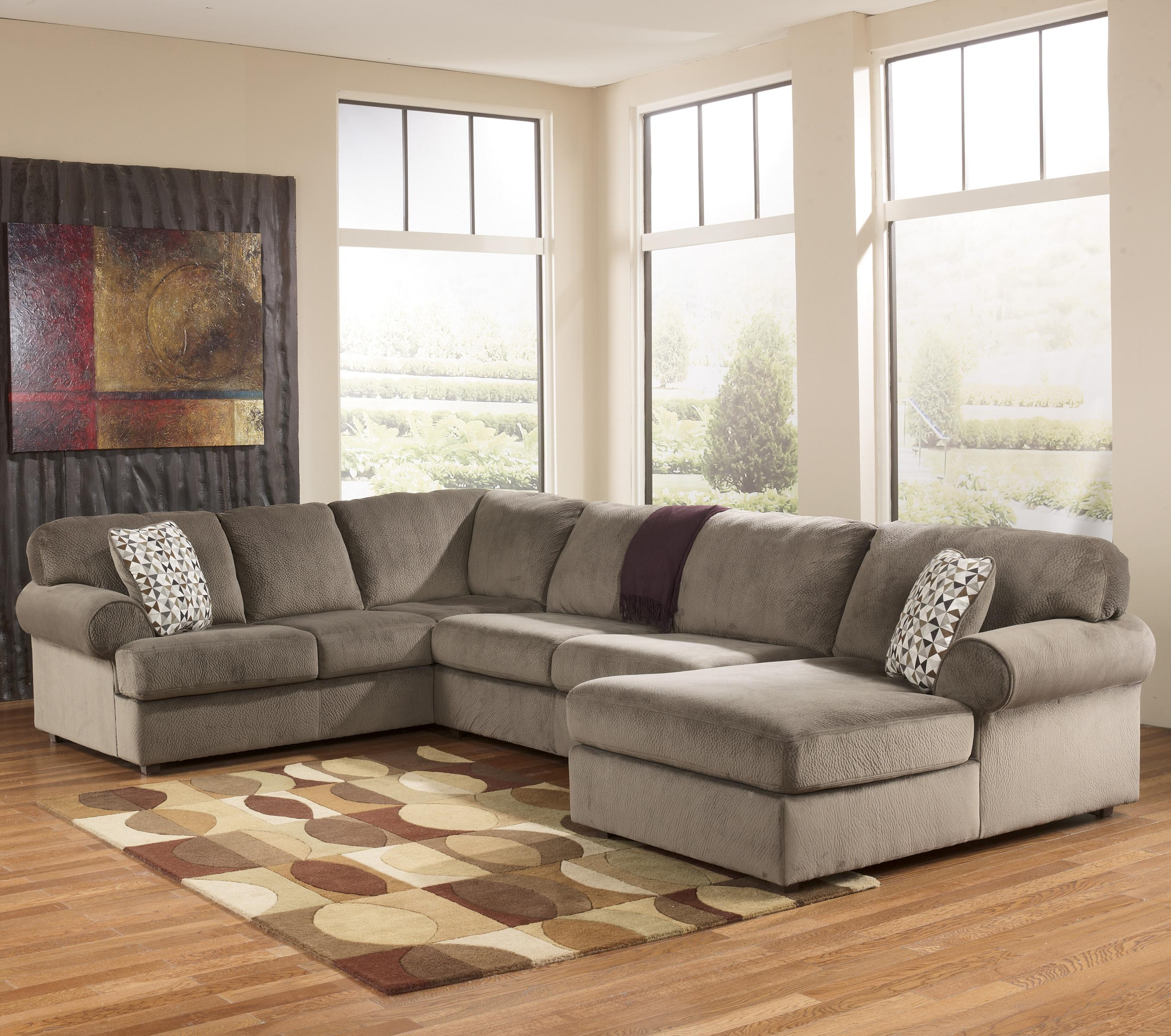 sofa ashley barcelona 2 cuerpos good sofas uk casual sectional with right chaise by signature