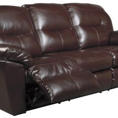Contemporary Reclining Sofa Leather Carla Queen Memory Foam Sleeper Faux By Signature