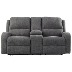 Modern Power Reclining Sofa Santa Monica Contemporary Loveseat W Console