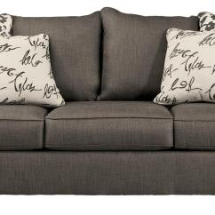 Navasota Charcoal Sofa Ashley Furniture Casual Sectional Sofas With Scatterback Pillows And Plush Coil Seat Cushions