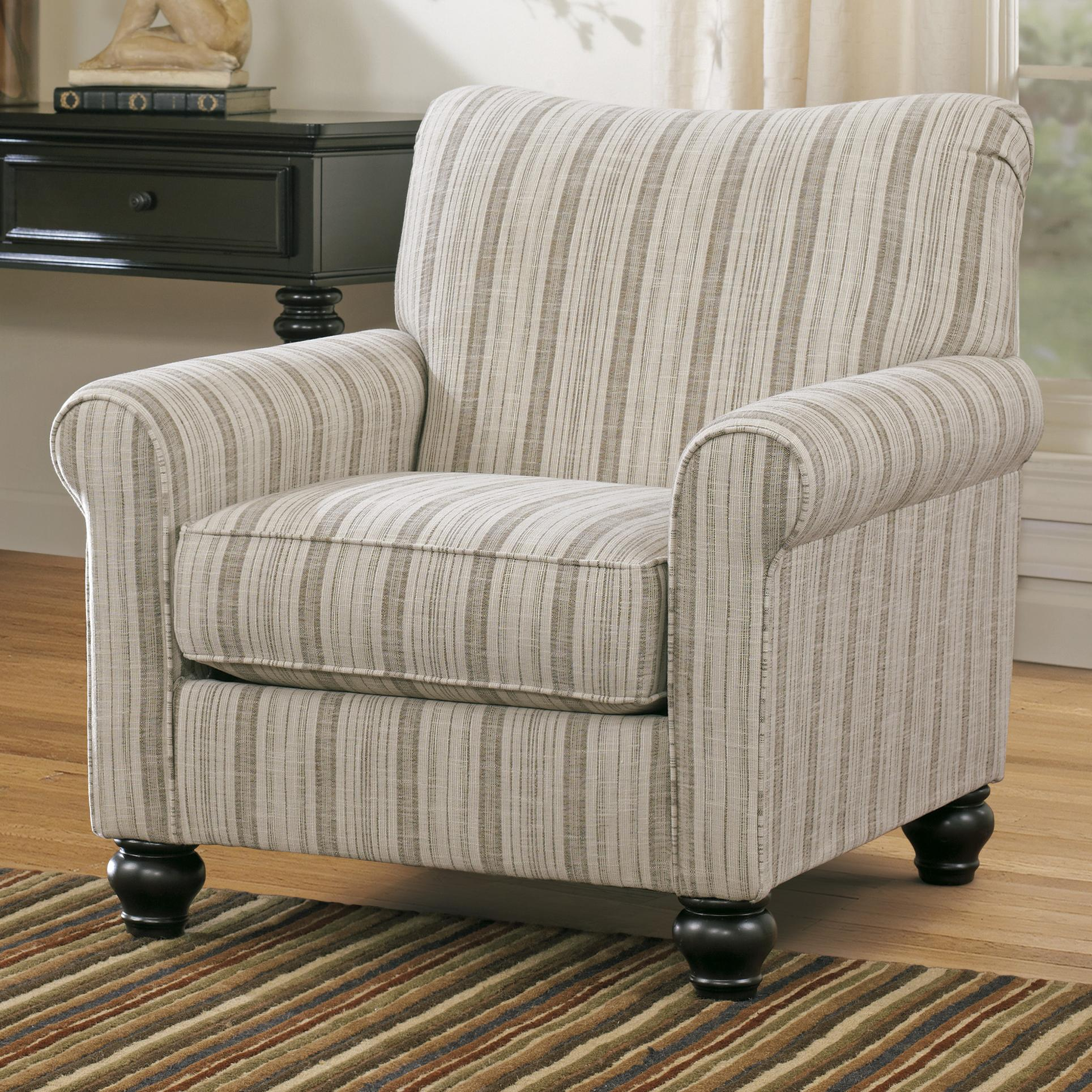 transitional accent chairs executive mesh office chair stripe by signature design