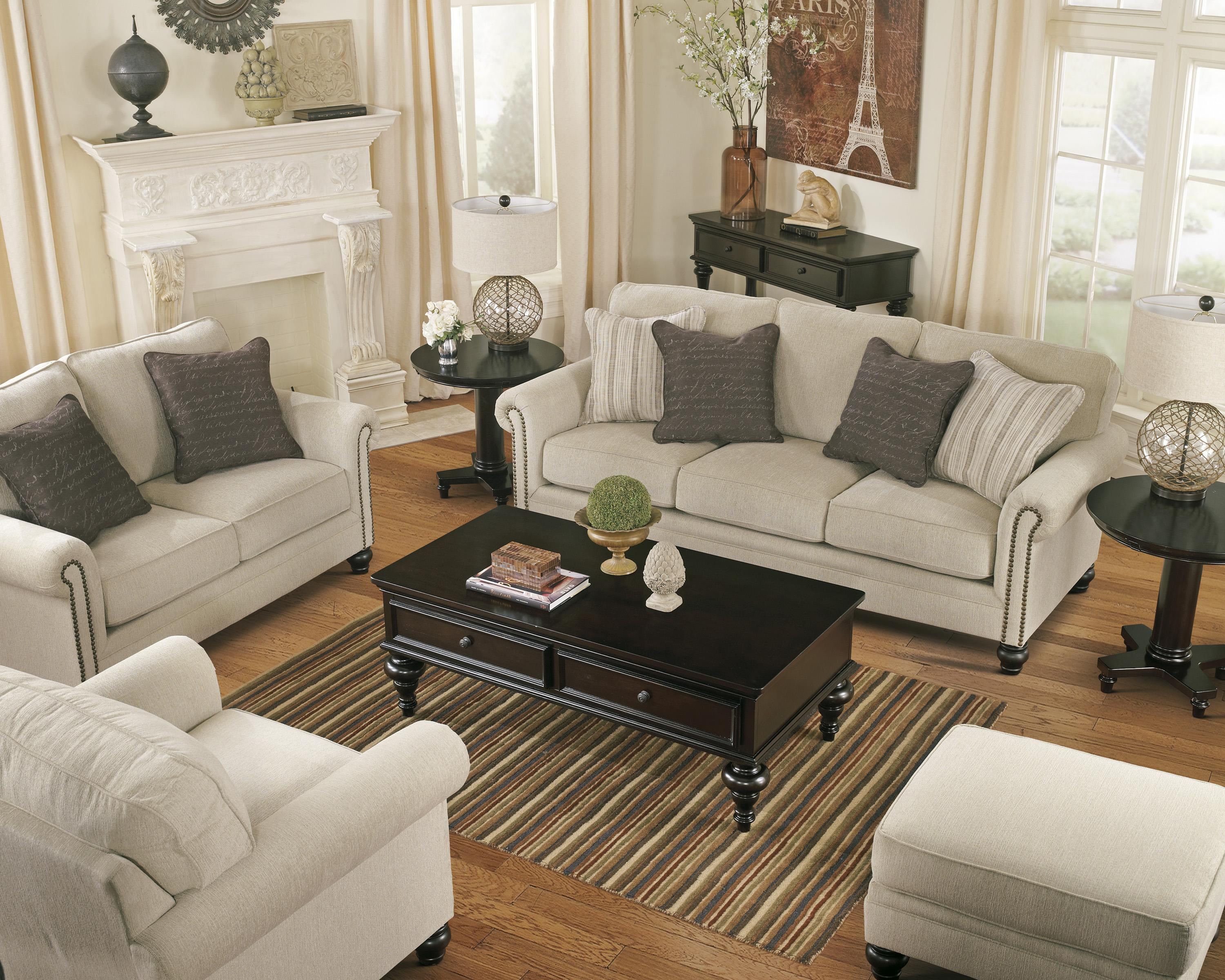 nailhead trim sofa ashley twin sleeper transitional with rolled arms nail head by