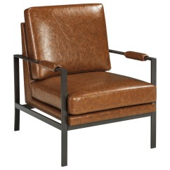Chair With Light Grey Upholstered Dark Bronze Finish Metal Arm Accent Brown
