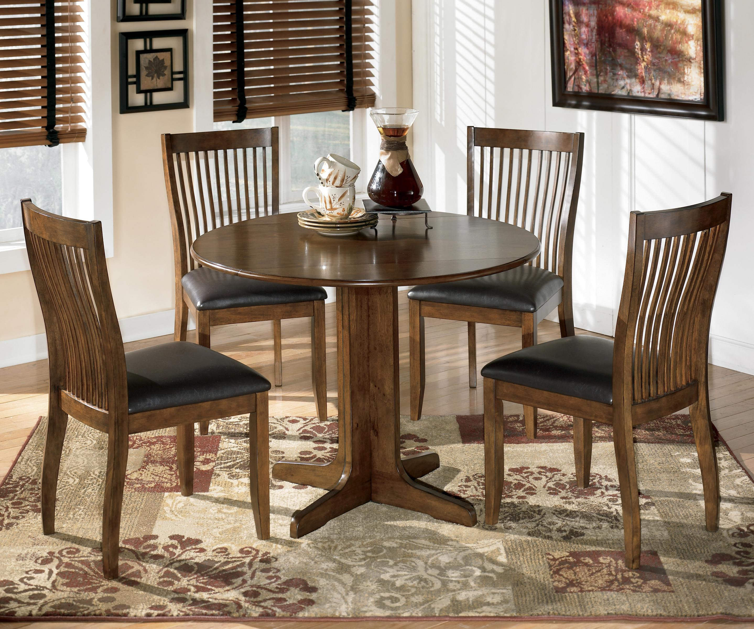 Drop Leaf Table With Chairs 5 Piece Round Drop Leaf Table Set By Signature Design By