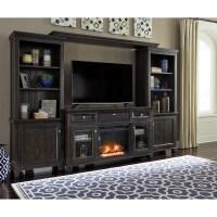 Entertainment Center w/ Fireplace Insert & Small Bluetooth ...