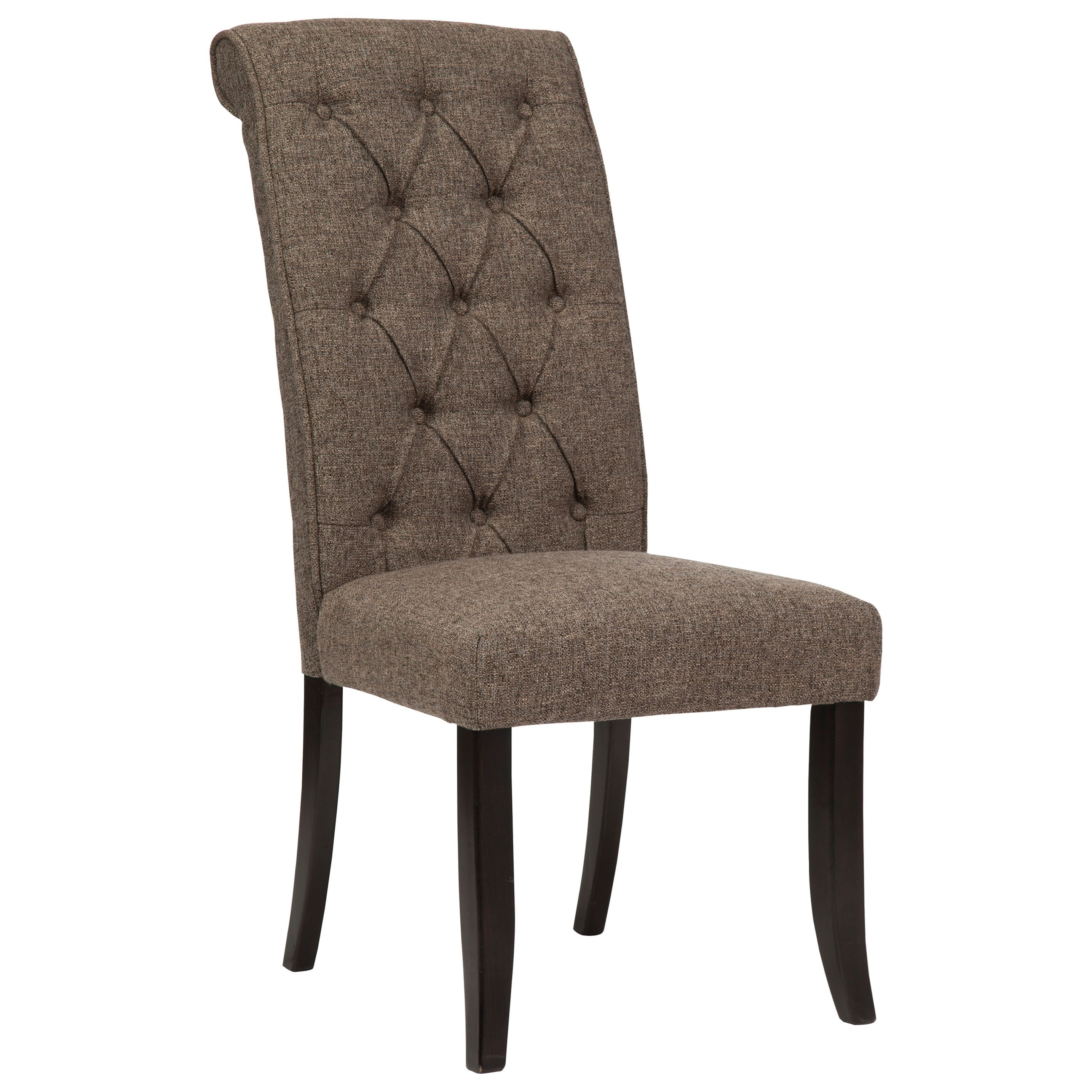 Upholstered Side Chairs Dining Upholstered Side Chair With Button Tufting And Roll