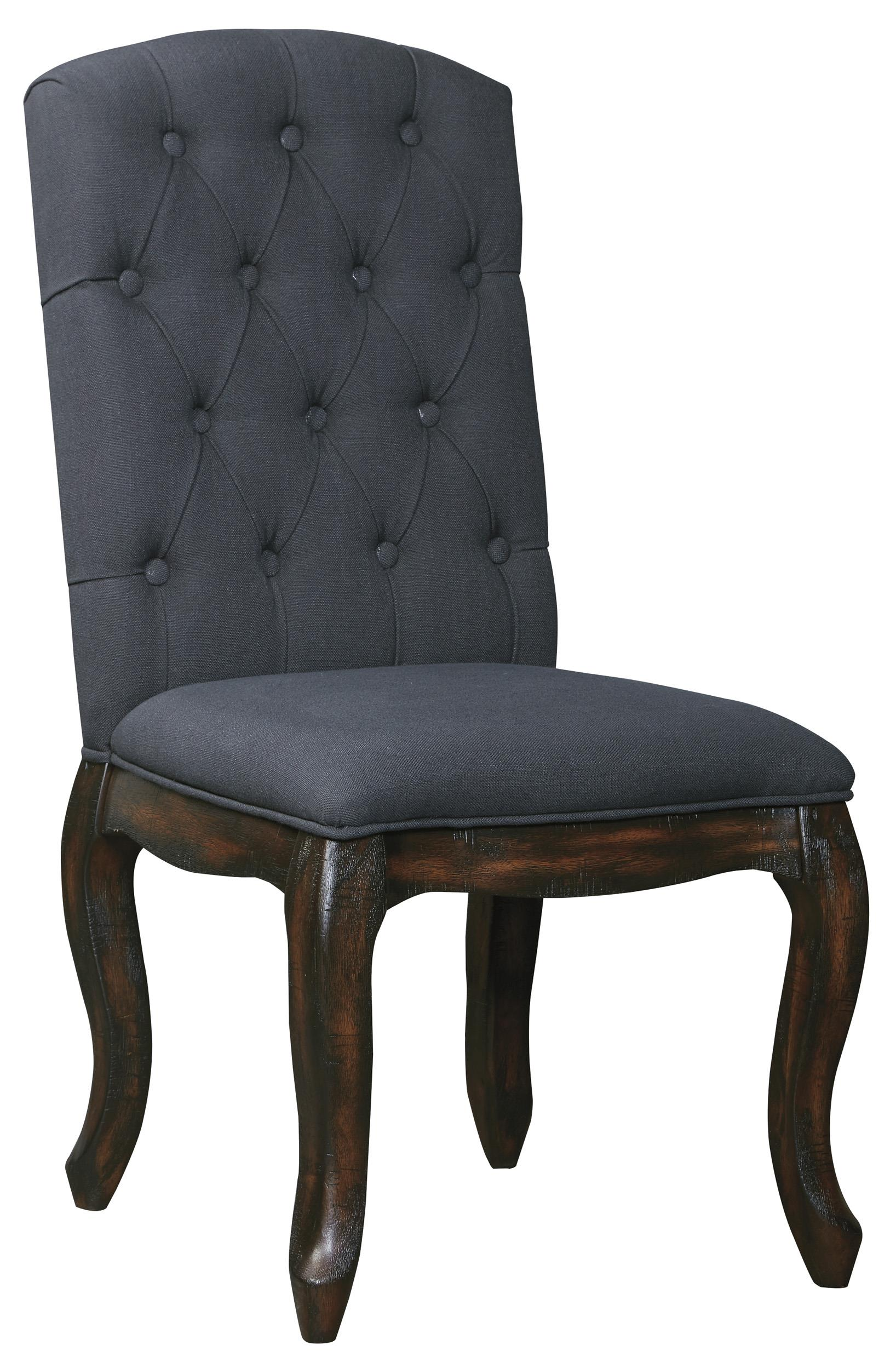 Upholstered Side Chairs Dining Upholstered Side Chair With Tufted Back And