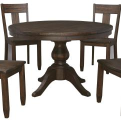 Set Of Dining Chairs Swing Chair Two Seater 5 Piece Round Table With Wood Seat Side