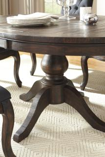 Wood Round Pedestal Dining Room Table