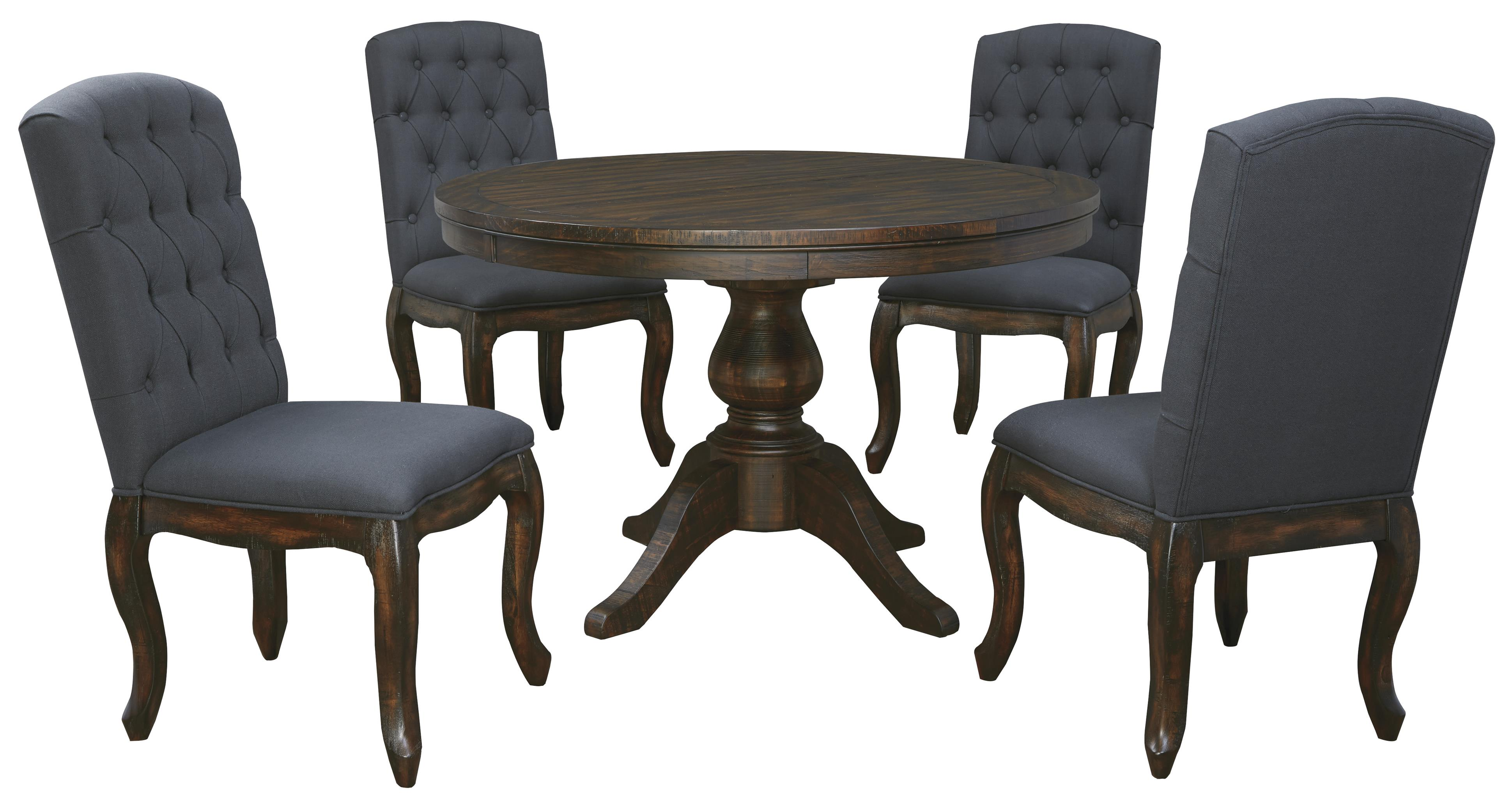 Dining Chairs Set 5 Piece Round Dining Table Set With Upholstered Side
