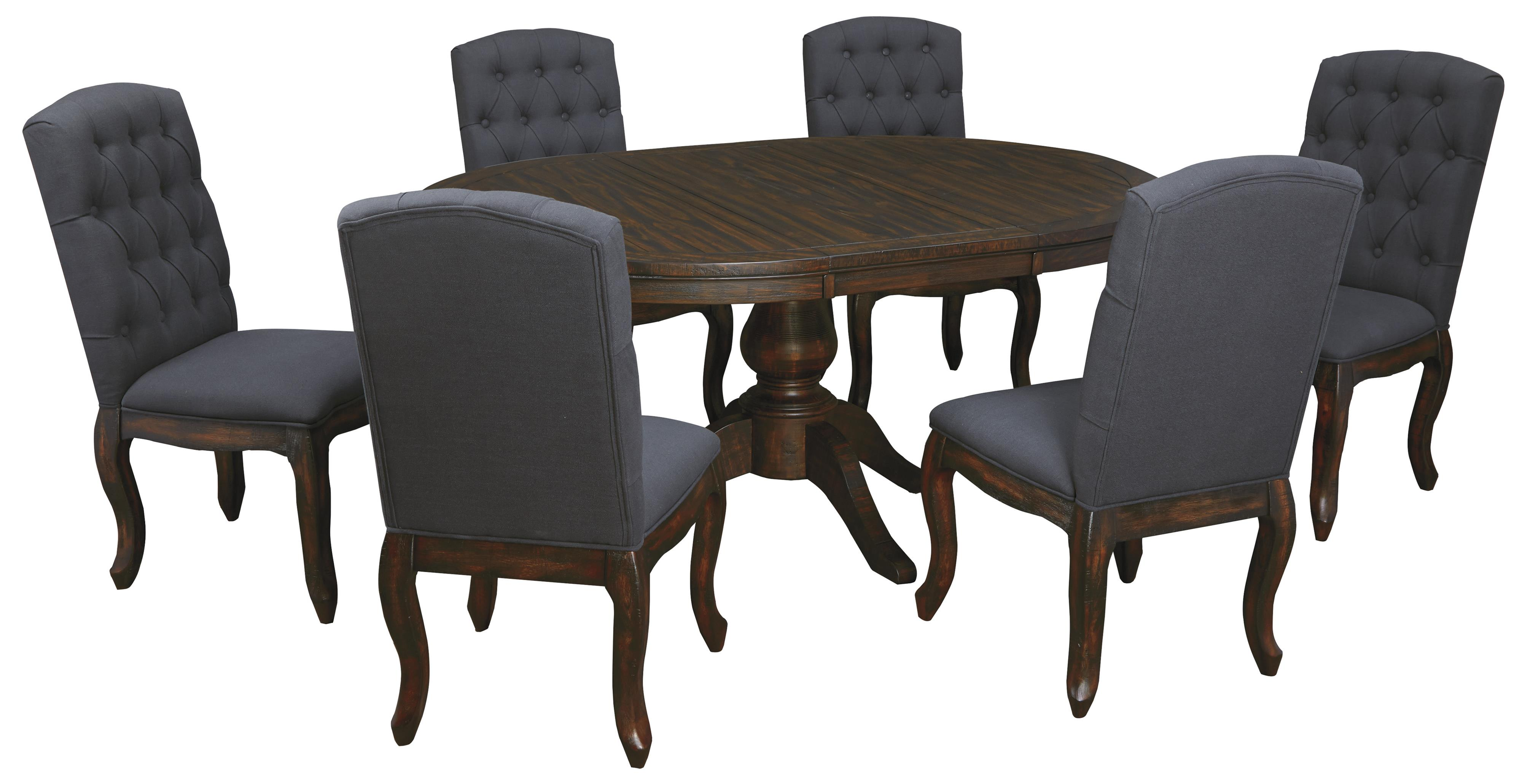set of dining chairs hanging chair lebanon 7 piece oval table with upholstered side