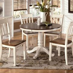 Cottage Style Kitchen Chairs Revolving Chair Tender Two Tone Round Table And 4 Side By