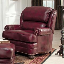 Chairs And Ottomans Upholstered Pottery Barn Wingback Chair Leather Ottoman By Smith Brothers