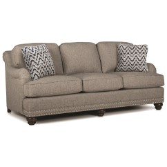 English Roll Arm Sofa Houston Xl With Rolled Back Arms And Nail Head