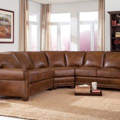 Semi Circle Sofa For Bay Window Disney Princess Junior Flip Out Traditional 3 Piece Sectional With Nailhead Trim By