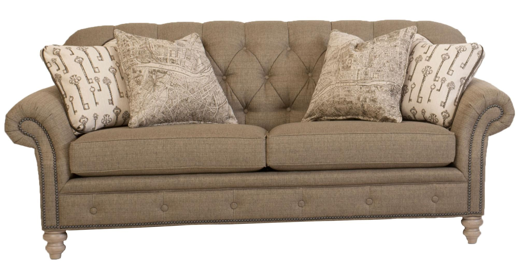 button tufted sofas west elm urban sofa dimensions traditional with nailhead trim by smith