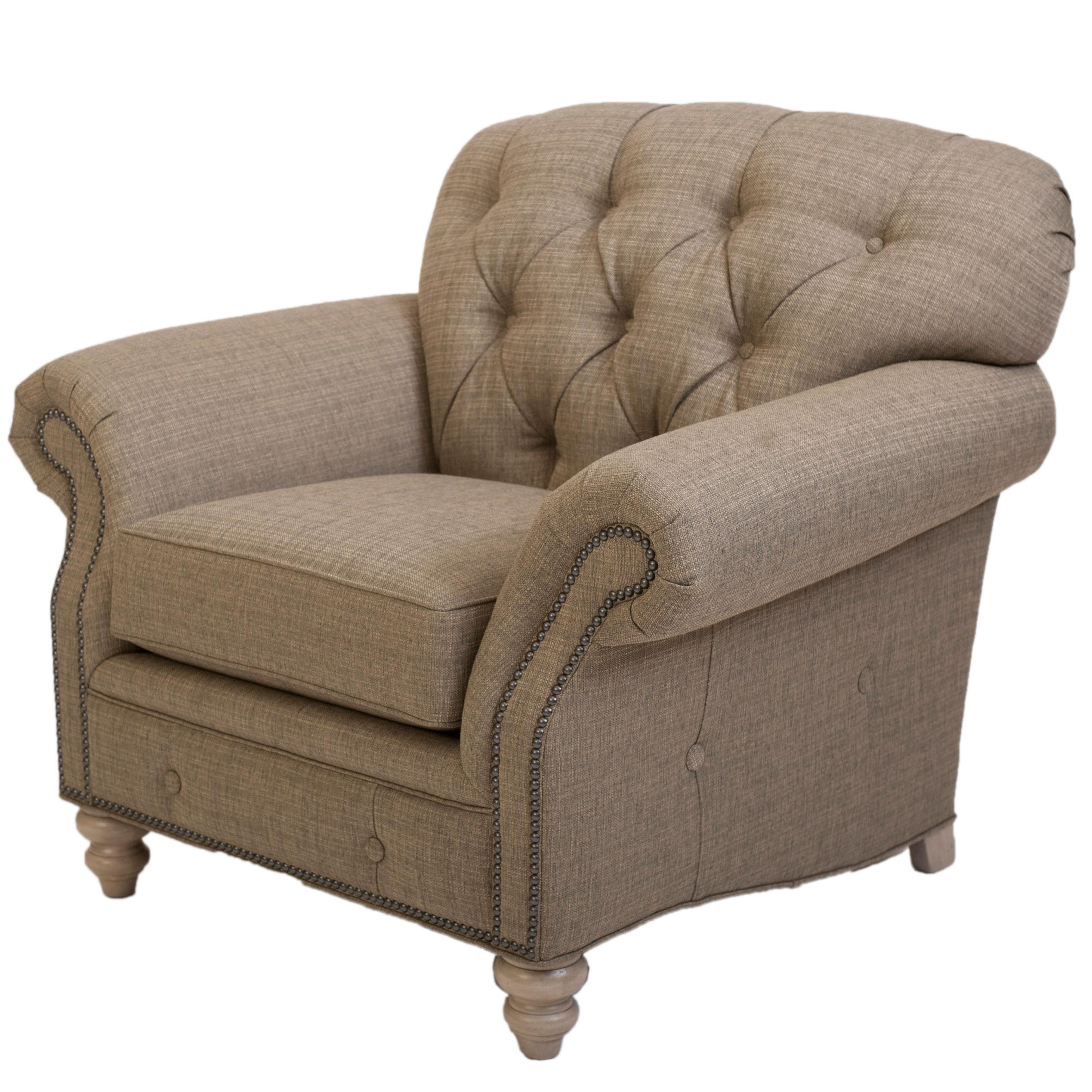 tufted nailhead chair office depot traditional button with trim by