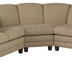 Rolled Arm Sofa With Nailhead Trim Brown Leather On Grey Carpet Stationary Sectional Arms And Nail Head