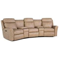 Motorized Sectional Sofa Down Filled Sofas Uk Casual Reclining Conversation With Console