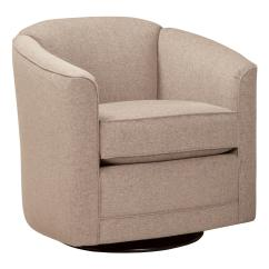 Barrel Swivel Chairs Upholstered Chocolate Accent Chair With Back By Smith Brothers Wolf And