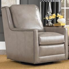 Transitional Accent Chairs Hunting Blind Swivel Chair With Nailhead Trim By Smith