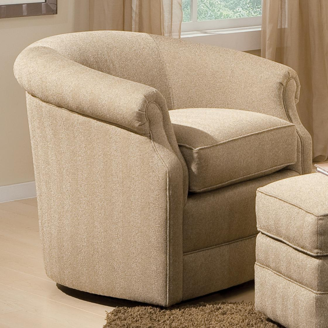 barrel swivel chair slipcover overstock living room chairs with rolled arms by smith brothers