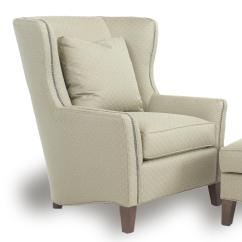 Accent Wingback Chairs Dining Room Tables With And Bench Contemporary Chair Track Arms By Smith