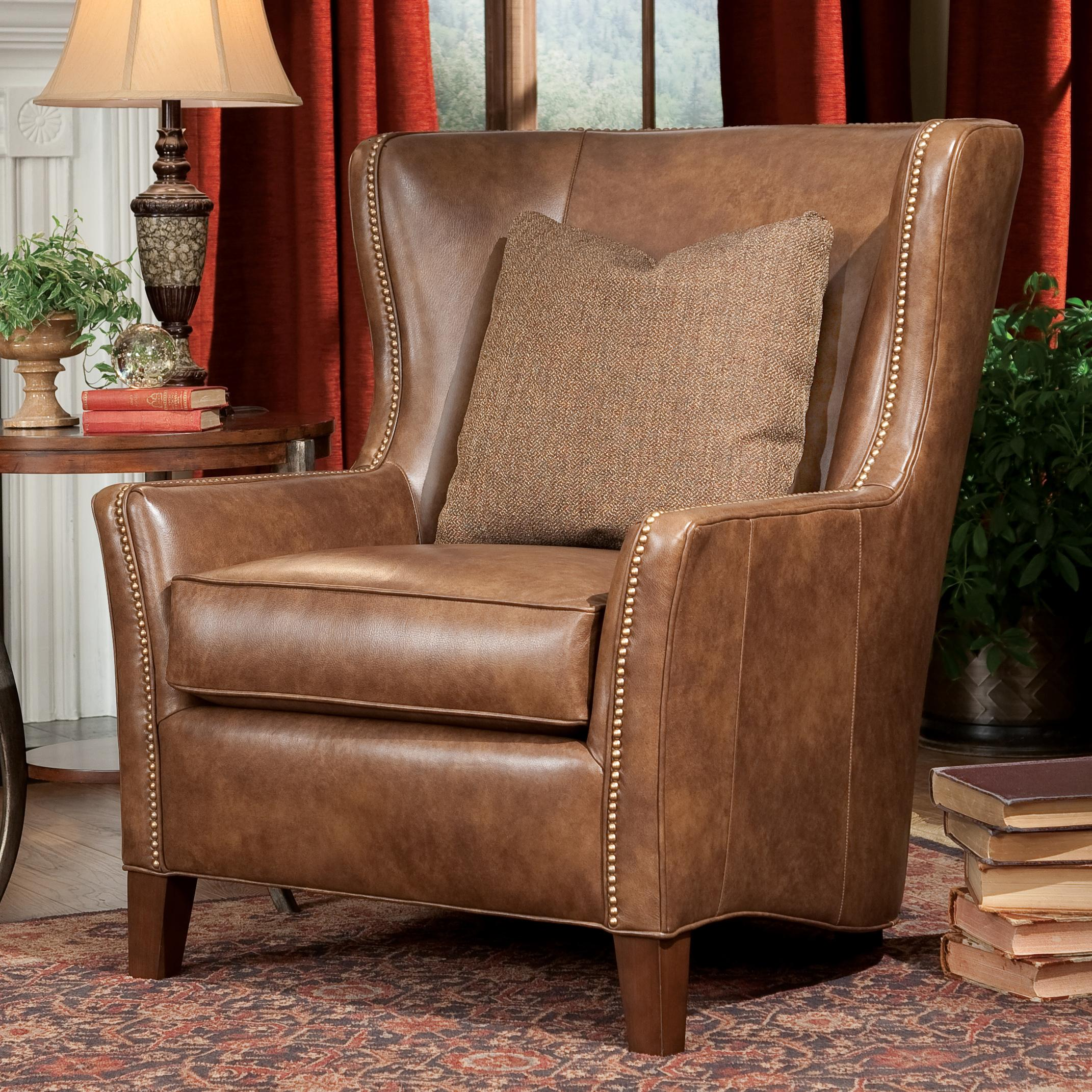 Modern Wing Chair Contemporary Wingback Chair With Track Arms By Smith