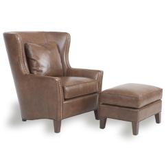 Chairs And Ottomans Upholstered Tafton Club Chair Wingback Ottoman By Smith Brothers Wolf