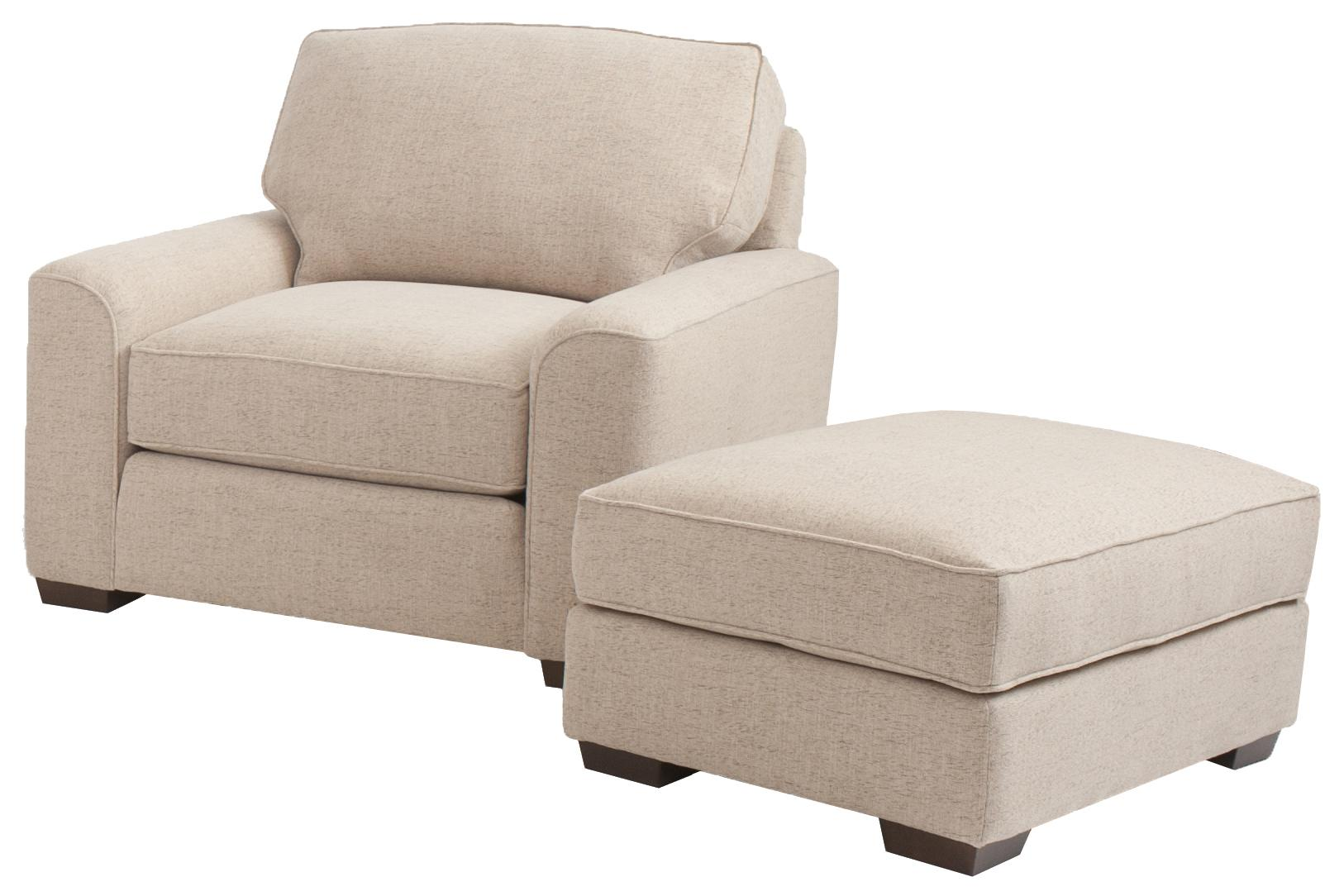 Chair And Ottoman Retro Styled Chair And Ottoman Set By Smith Brothers