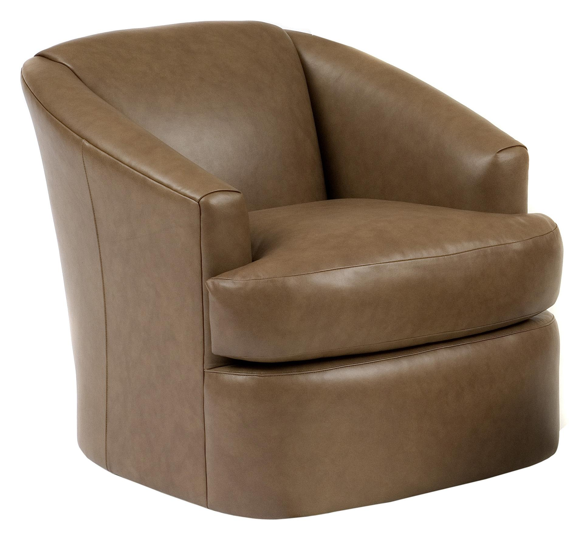 Contemporary Swivel Chairs Contemporary Barrel Swivel Chair By Smith Brothers Wolf