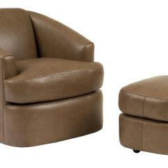 Swivel Chair And Ottoman Loveseat Set Contemporary Barrel With Casters