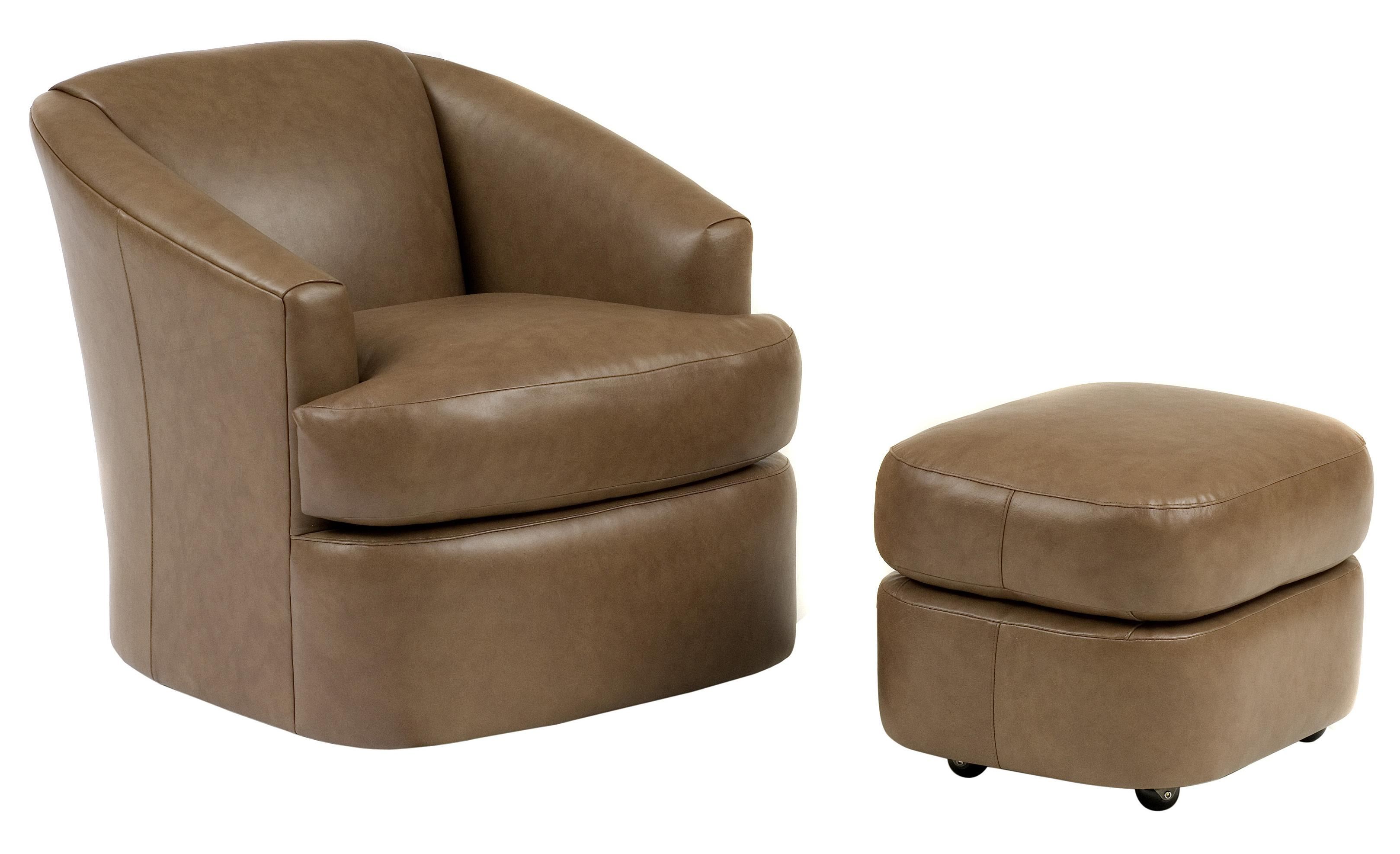 Modern Barrel Chair Contemporary Swivel Barrel Chair And Ottoman With Casters