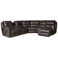 Back Of Sofa Facing Fireplace 2 Seater Bed Sydney Power Reclining Sectional With 5 Seats By Southern