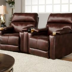 Recliner Chairs Movie Theater With Cup Holders Seating Group 2 Wall Recliners And