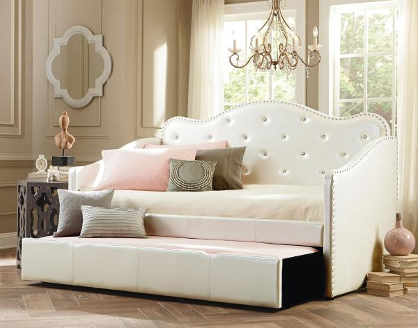 Full Size Upholstered Daybed with Trundle