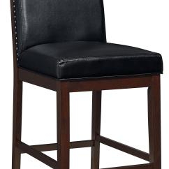 Upholstered Counter Height Chairs Chair For Desk Without Wheels With Nail Head Trim By