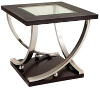 Square End Table with Glass Table Top by Standard ...