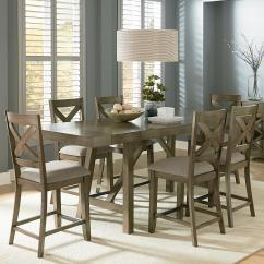 Dining Set With Bench And Chairs Baby Shower Chair Rental Counter Height 7 Piece Room Table By Standard