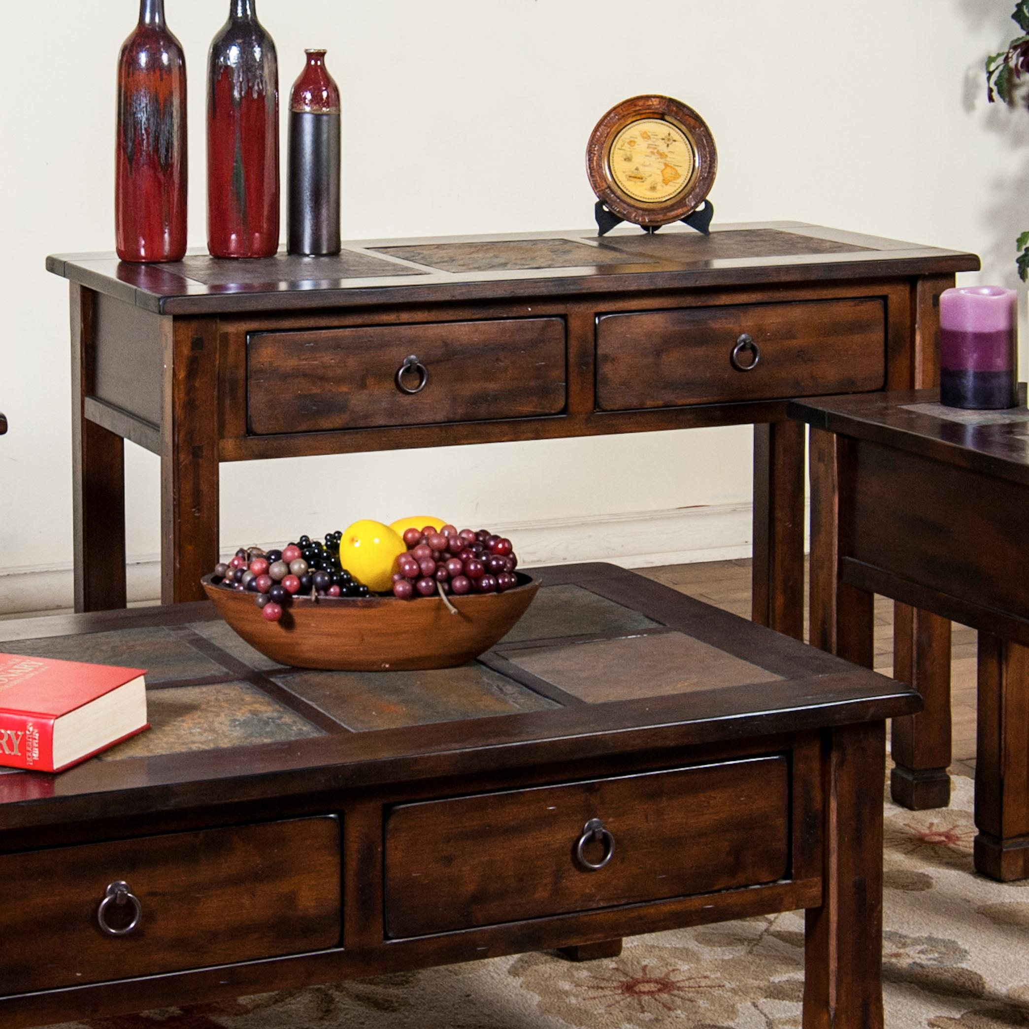 slate sofa table big lots 5 in 1 bed reviews console w top by sunny designs wolf