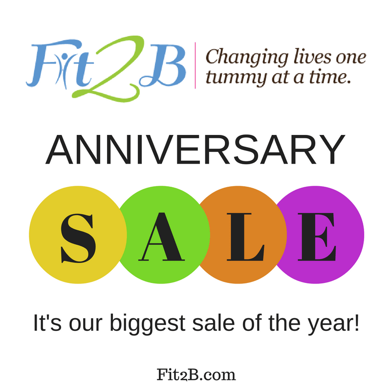 Fit2B Anniversary social media