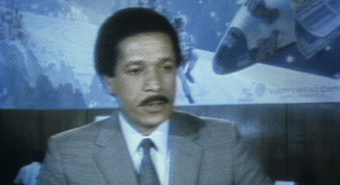 Anchor MAX ROBINSON pictured in a NEWS photo - SPACE FLIGHTS - Space Shuttle 'Columbia' Broadcast Coverage from Kennedy Space Center on TV Screen (Flight Canceled) - Airdate: April 10, 1981. (Photo by Walt Disney Television via Getty Images Photo Archives/Walt Disney Television via Getty Images)