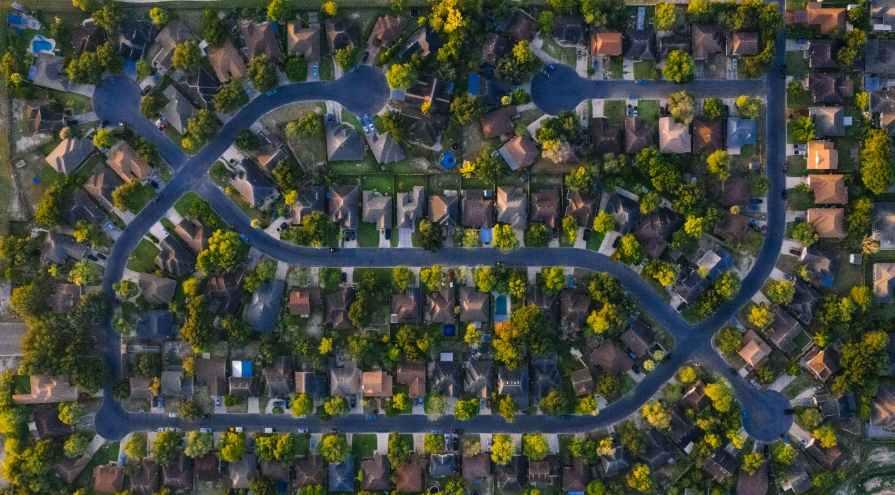 bird s eye view of houses