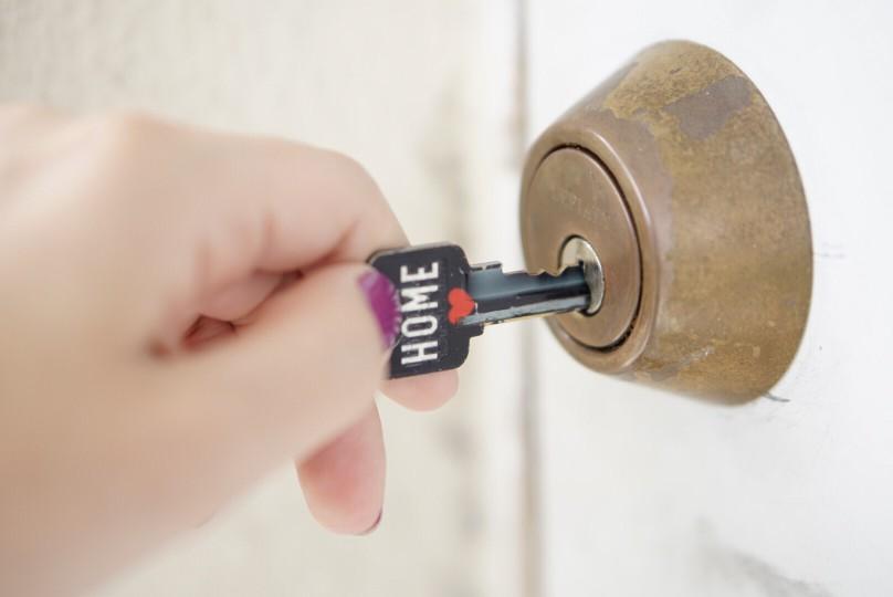 Home key unlocking deadbolt