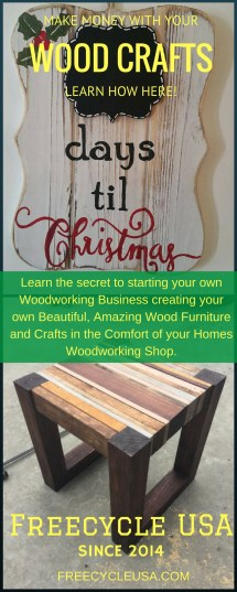 Make Easy Money With Wood Crafts - Freecycle Usa
