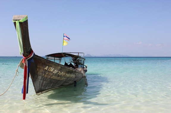 Thailand beach and boat
