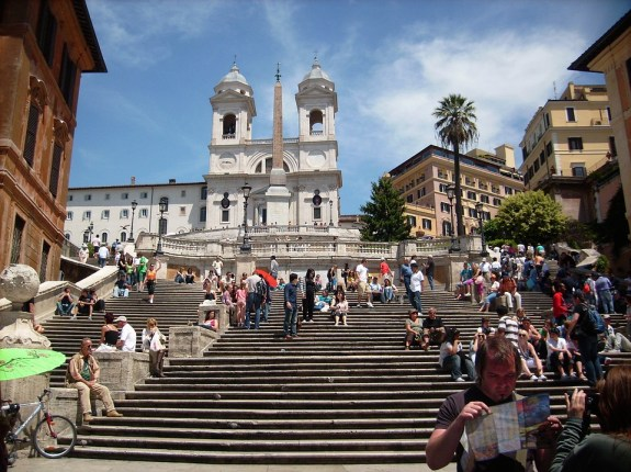 The Spanish Steps, a place for the beautiful, the talents and the rich!