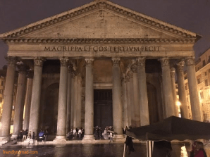 The Pantheon in the rain, with music and dancing - was truly a sight I'll remember from my trip