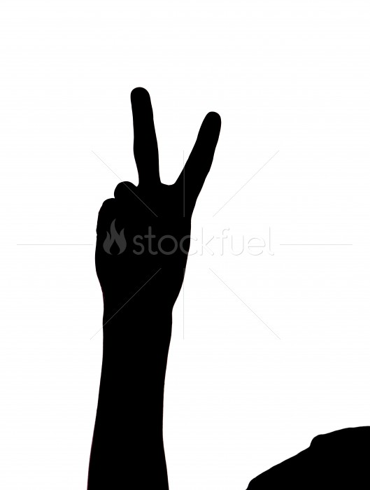 Peace Sign Hand Silhouette Stock Photo StockFuel