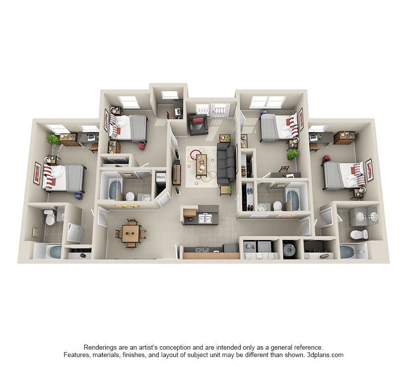 affordable 2, 3 & 4 bedroom student apartments in atlanta, ga
